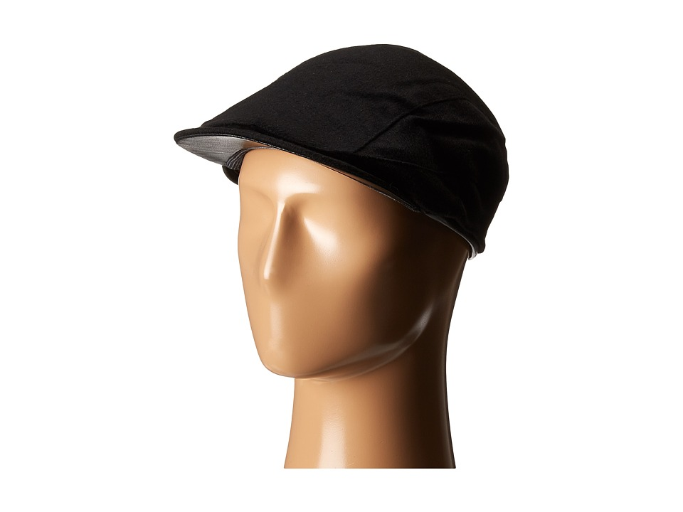 John Varvatos Star U.S.A. - Leather Trim Ivy Hat (Black) Caps