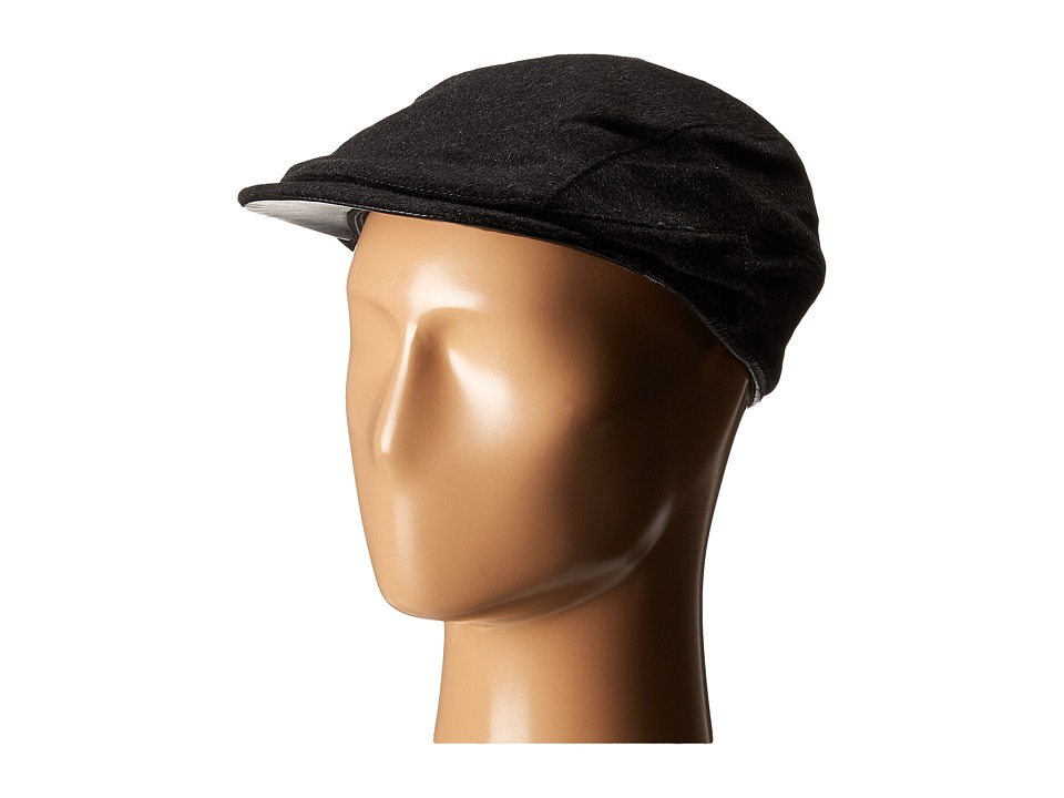 John Varvatos Star U.S.A. - Leather Trim Ivy Hat (Charcoal) Caps