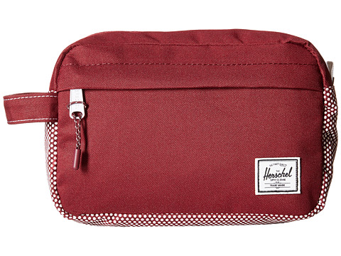 Herschel Supply Co. - Chapter (Windor Wine Micro Polka Dot) Toiletries Case