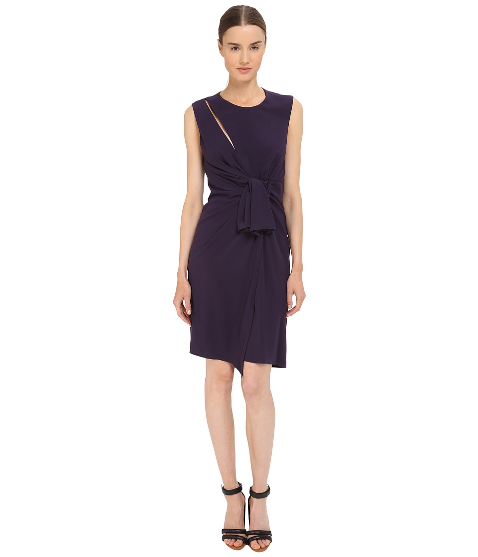 The Kooples - Crepe Back Satin Gown Dress (Purple) Women's Dress