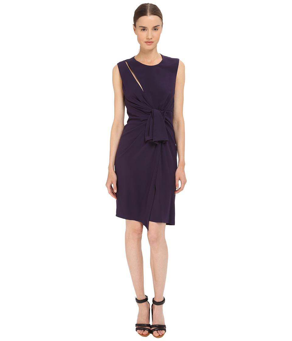The Kooples Crepe Back Satin Gown Dress (Purple) Women
