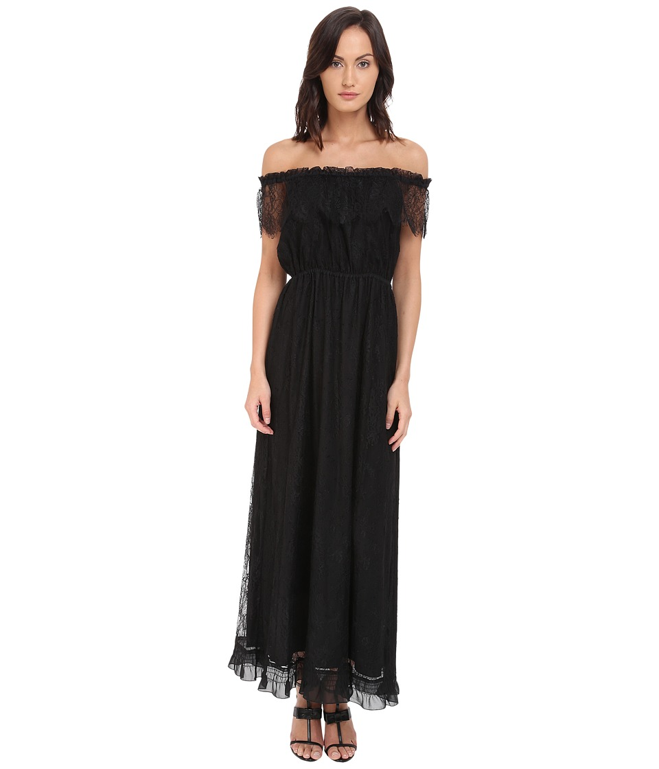 The Kooples - Bohemian Lace Dress (Black) Women's Dress