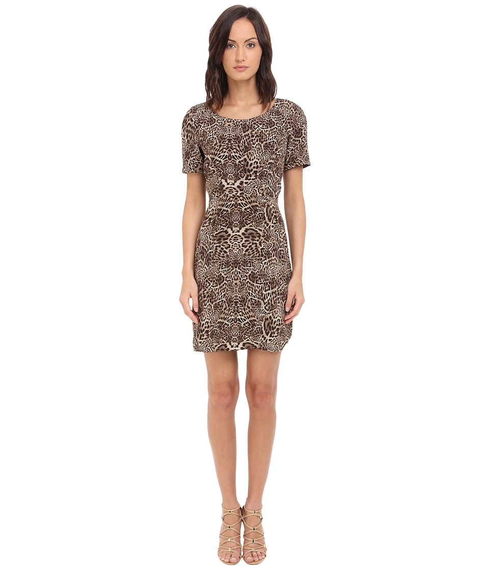 The Kooples - Silk CDC Dress (Leopard) Women's Dress