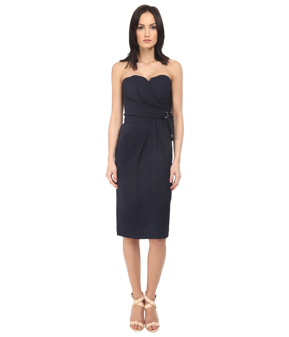 The Kooples - Drapy Dress (Navy) Women's Dress