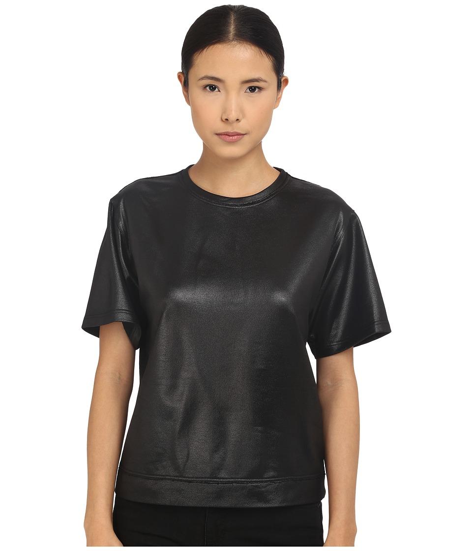 The Kooples - Lak Fleece Sweat (Black) Women's Short Sleeve Pullover