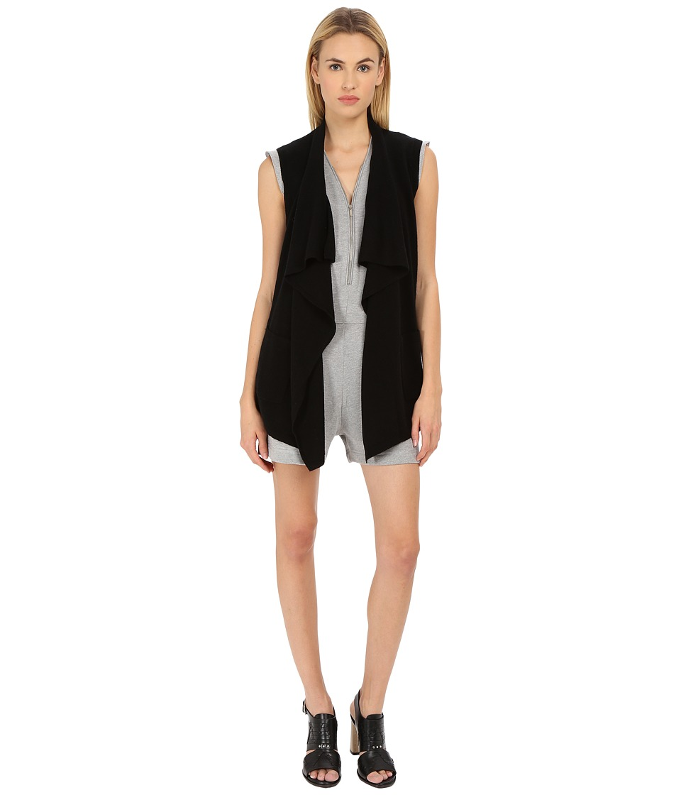 The Kooples - Cashmere Wool Cardigan (Black) Women