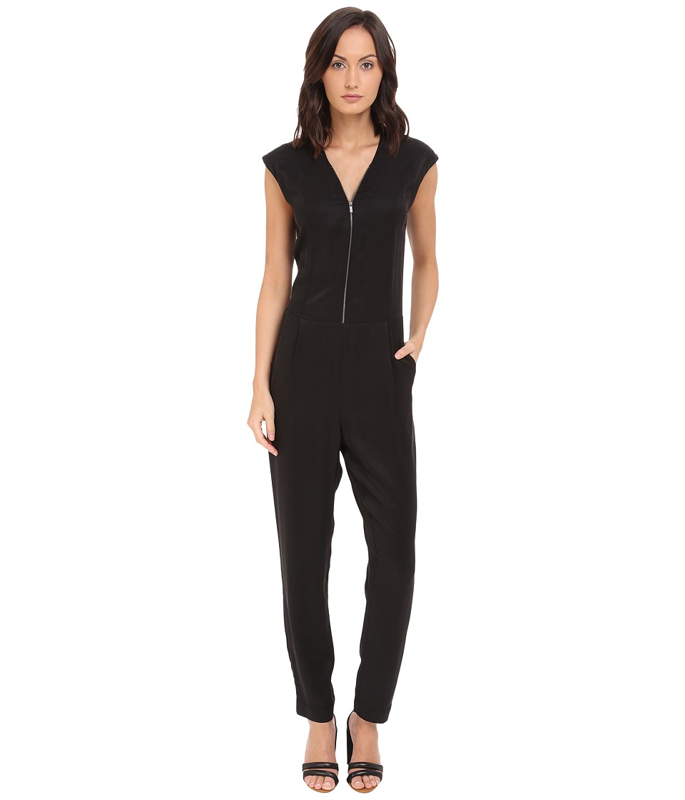 The Kooples - Cupro Jumpsuit (Black) Women's Jumpsuit & Rompers One Piece