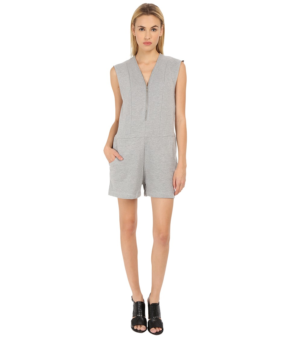 The Kooples - Melange Fleece Combinaison (Grey) Women's Jumpsuit & Rompers One Piece