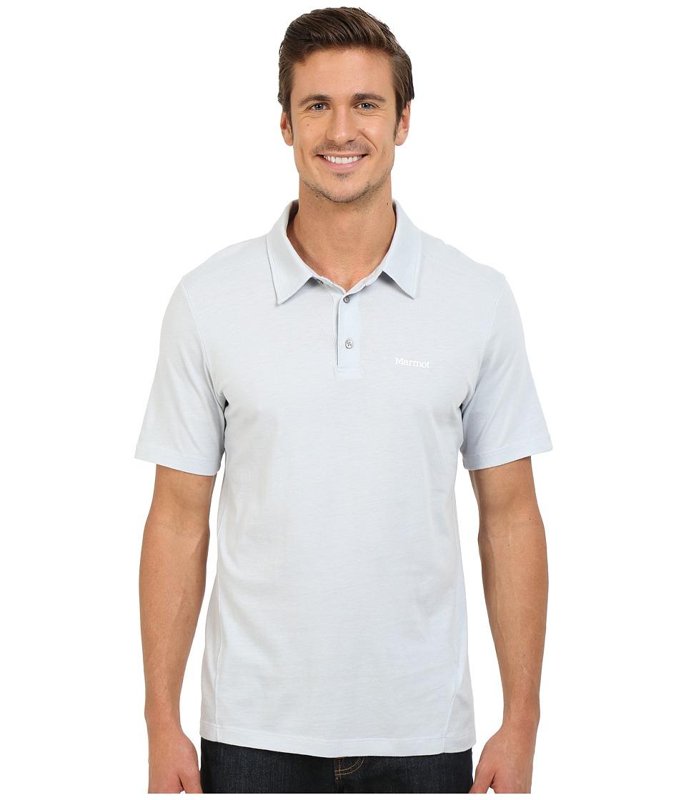 Marmot - Reyes Short Sleeve Polo (Silver) Men's Short Sleeve Pullover