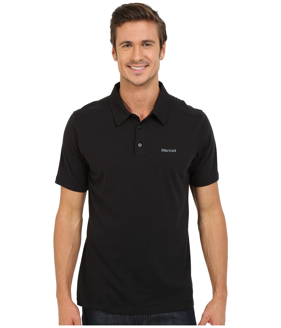 Marmot - Reyes Short Sleeve Polo (Black) Men's Short Sleeve Pullover