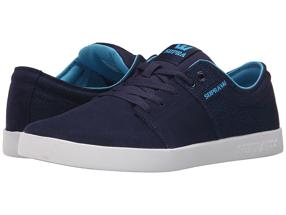 Supra - Stacks II (Navy/White) Men's Skate Shoes