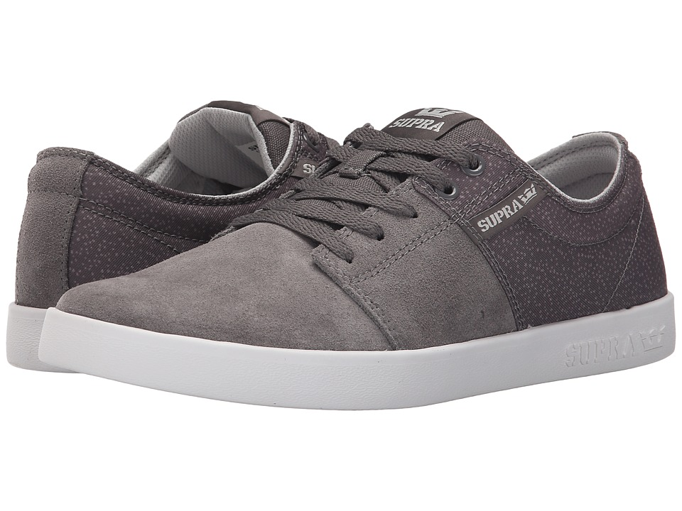 Supra - Stacks II (Charcoal/White) Men's Skate Shoes