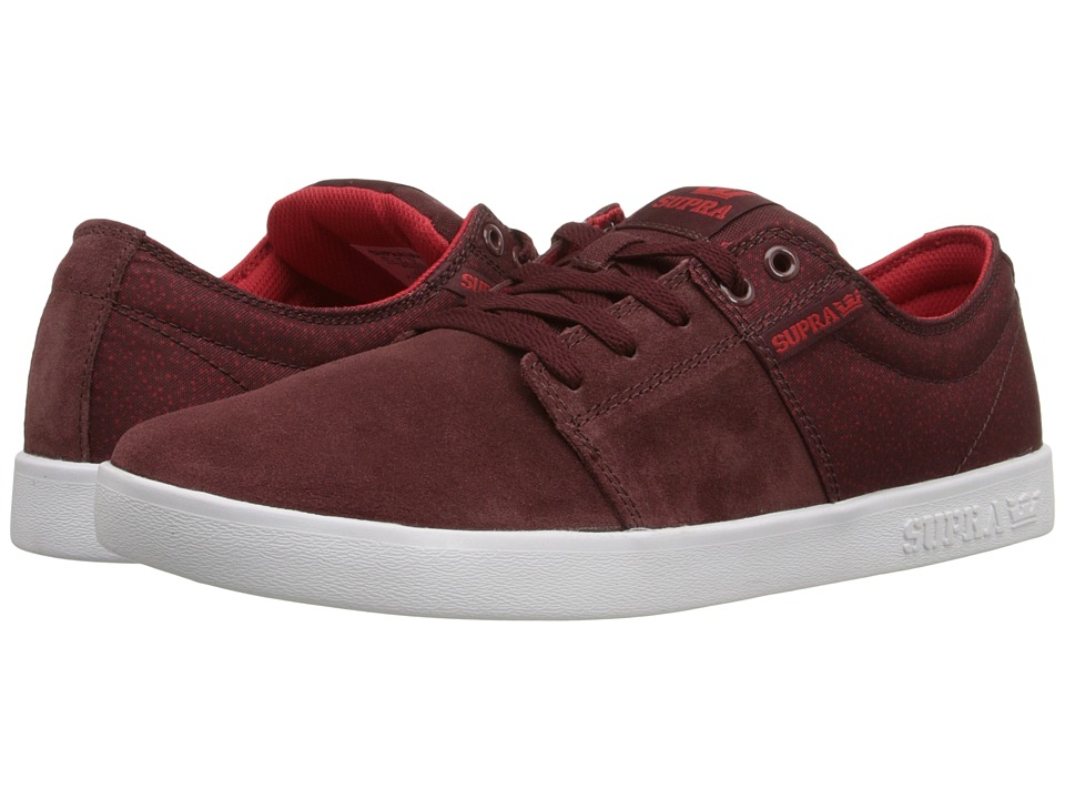 Supra - Stacks II (Burgundy/White) Men's Skate Shoes