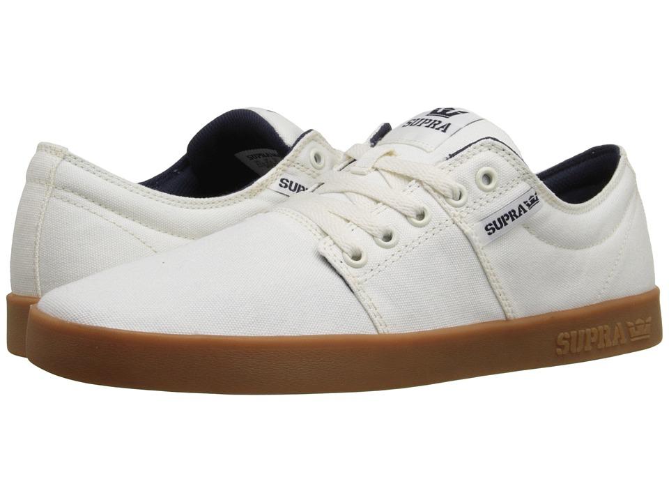 Supra - Stacks II (Off-White/Gum) Men's Skate Shoes