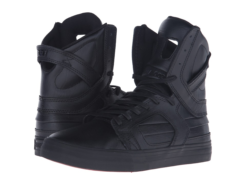 Supra - Skytop II (Black/Black/Red) Women's Skate Shoes