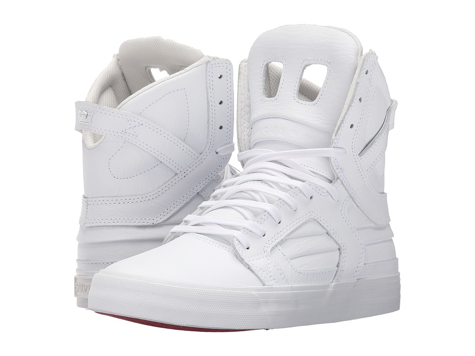 Supra - Skytop II (White/White/Red) Women's Skate Shoes