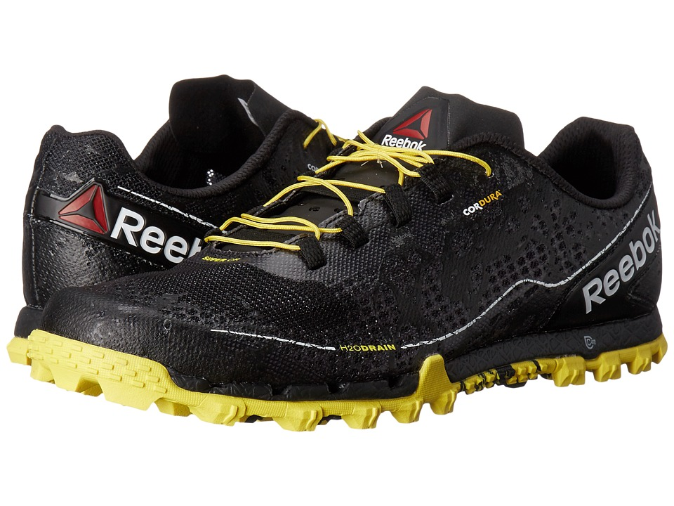 Reebok - All Terrain Super OR (Black/White/Yellow Spark/Coal) Men's Running Shoes
