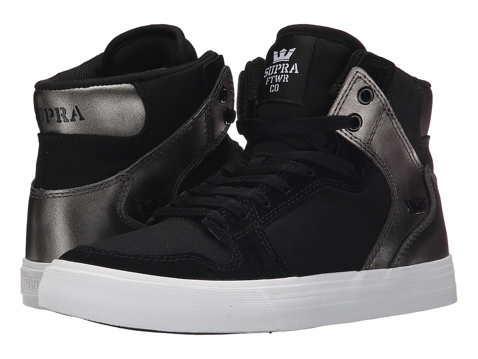 Supra - Vaider (Black/Gunmetal/White 2) Women's Skate Shoes
