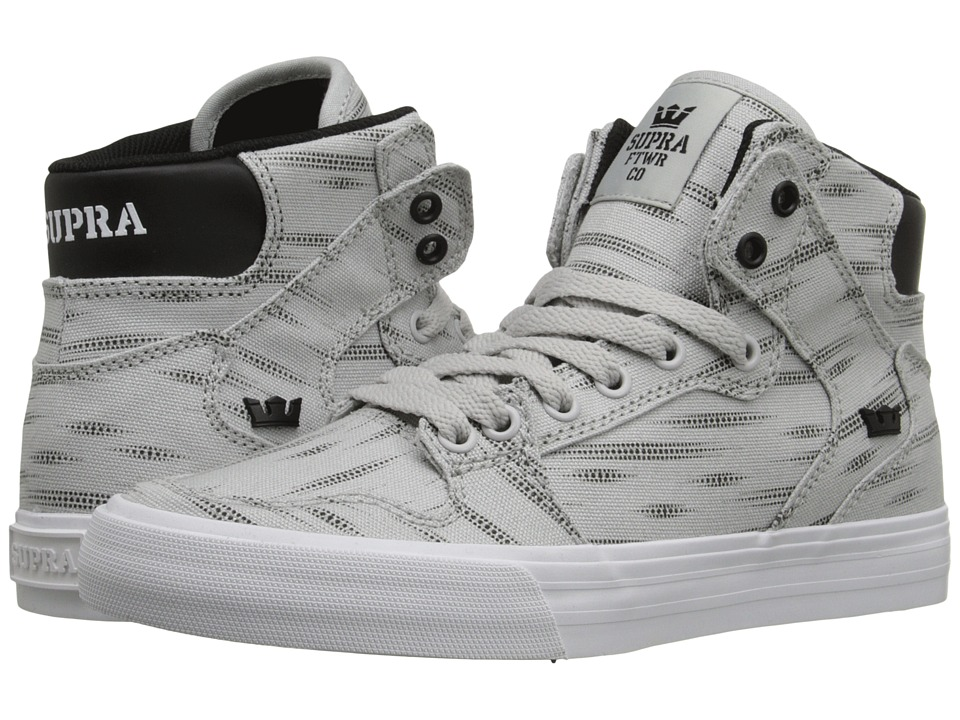 Supra - Vaider D (Light Grey Print/Black/White) Women's Skate Shoes