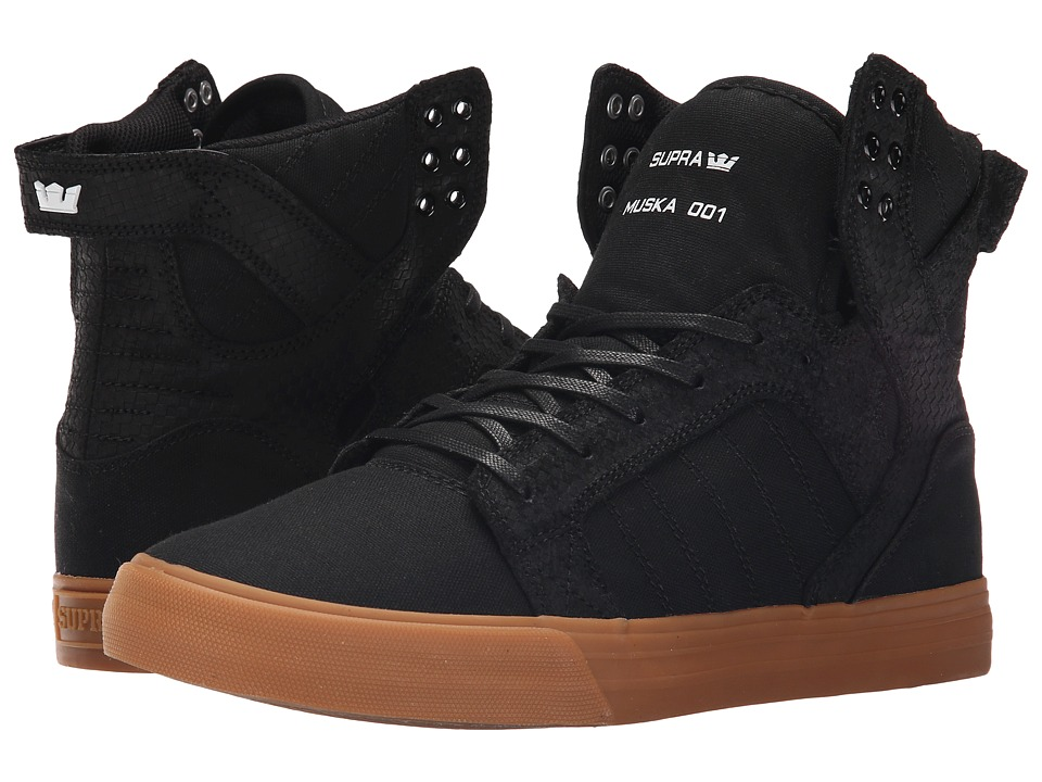 Supra - Skytop (Black/Gum) Men's Skate Shoes