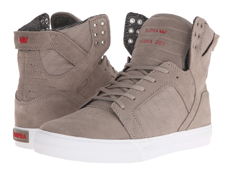 Supra - Skytop (Dark Khaki/White) Men's Skate Shoes