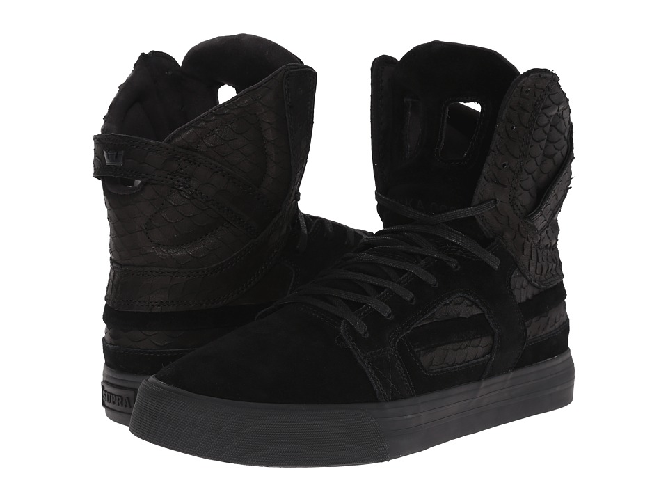 Supra - Skytop II (Black/Black/Black) Men's Skate Shoes