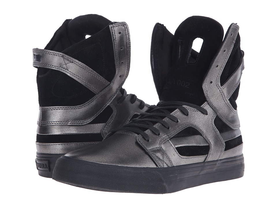 Supra - Skytop II (Gunmetal/Black) Men's Skate Shoes