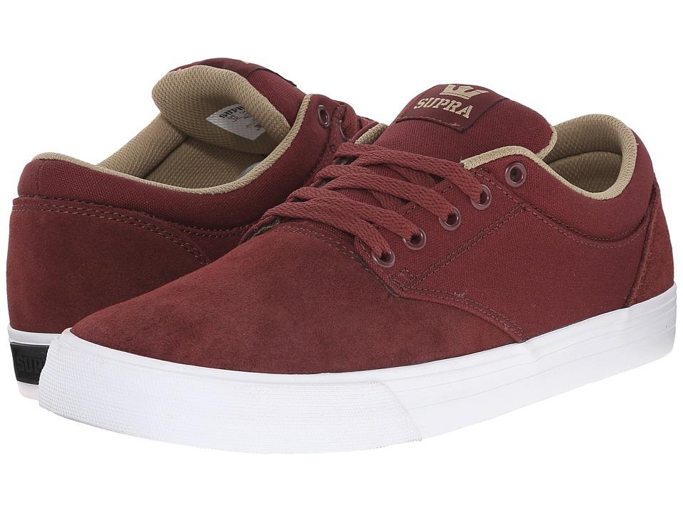Supra - Chino (Burgundy/Khaki/White) Men's Skate Shoes