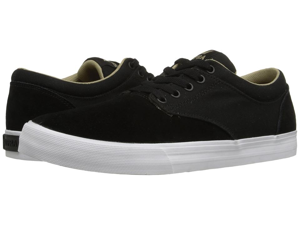Supra - Chino (Black/Khaki/White) Men's Skate Shoes