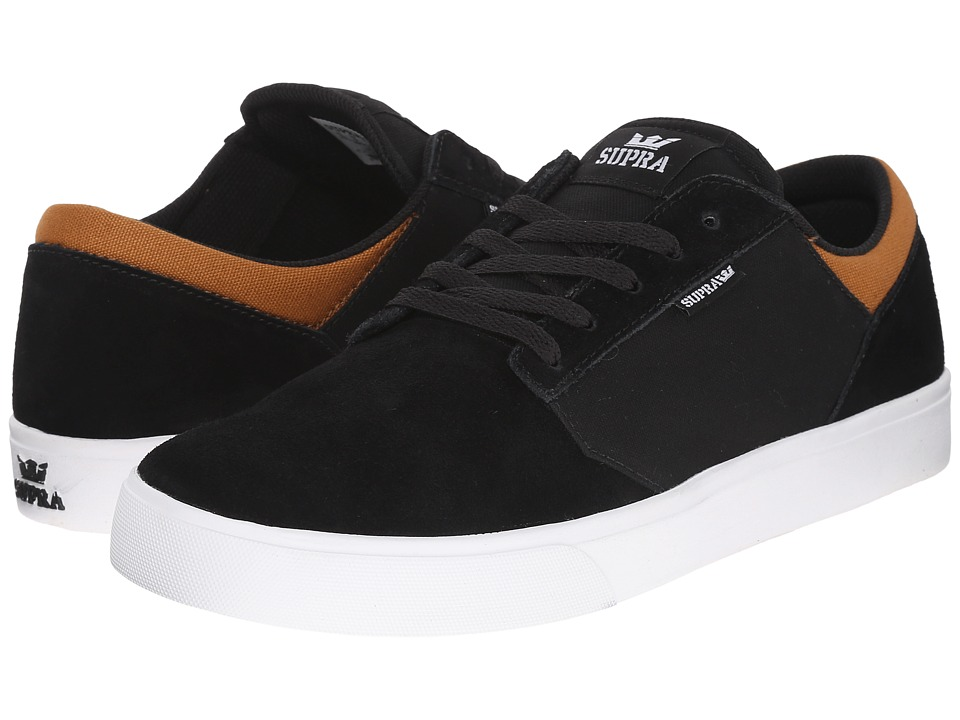 Supra - Yorek Low (Black/Cathay Spice/White) Men's Skate Shoes