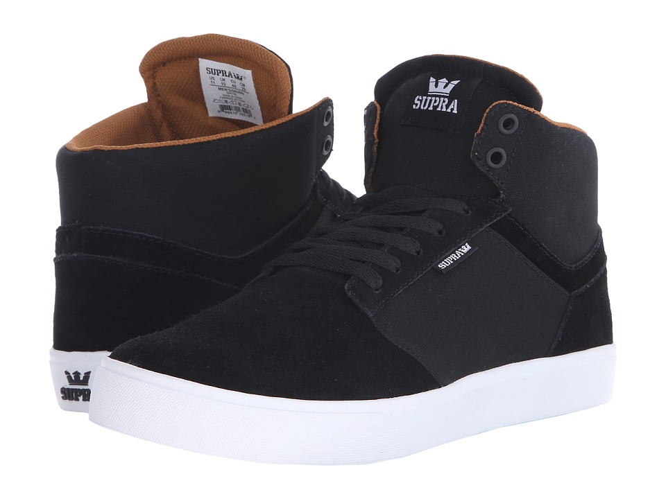 Supra - Yorek Hi (Black/White) Men's Skate Shoes