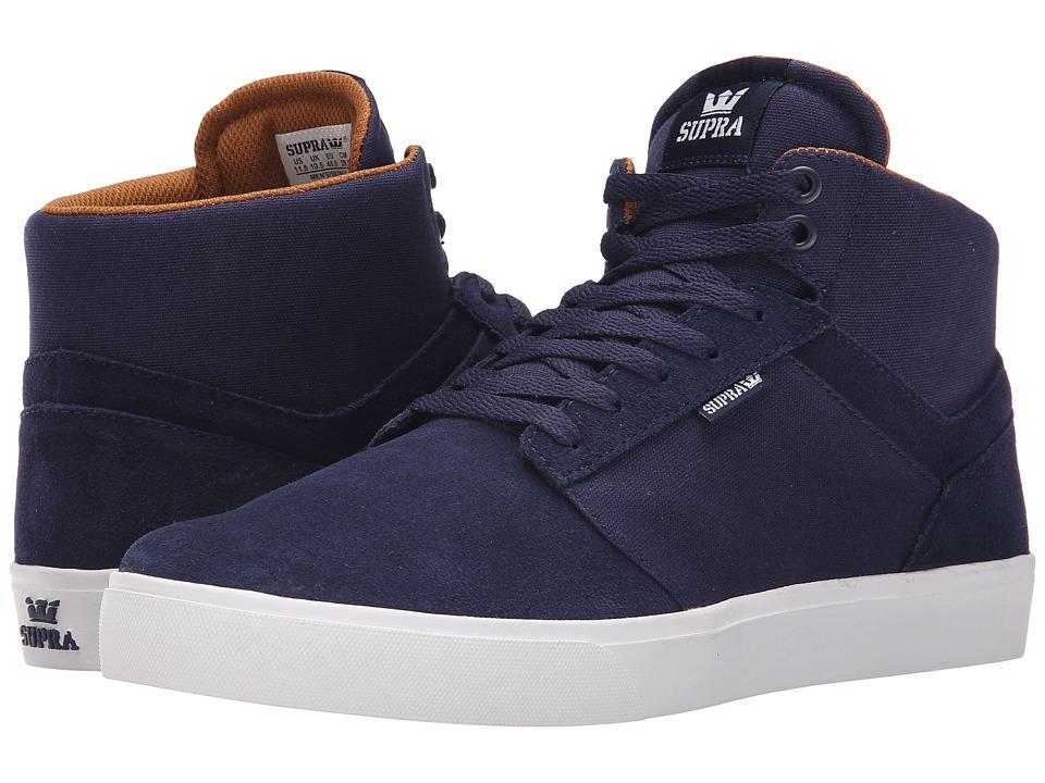 Supra - Yorek Hi (Navy/White) Men's Skate Shoes