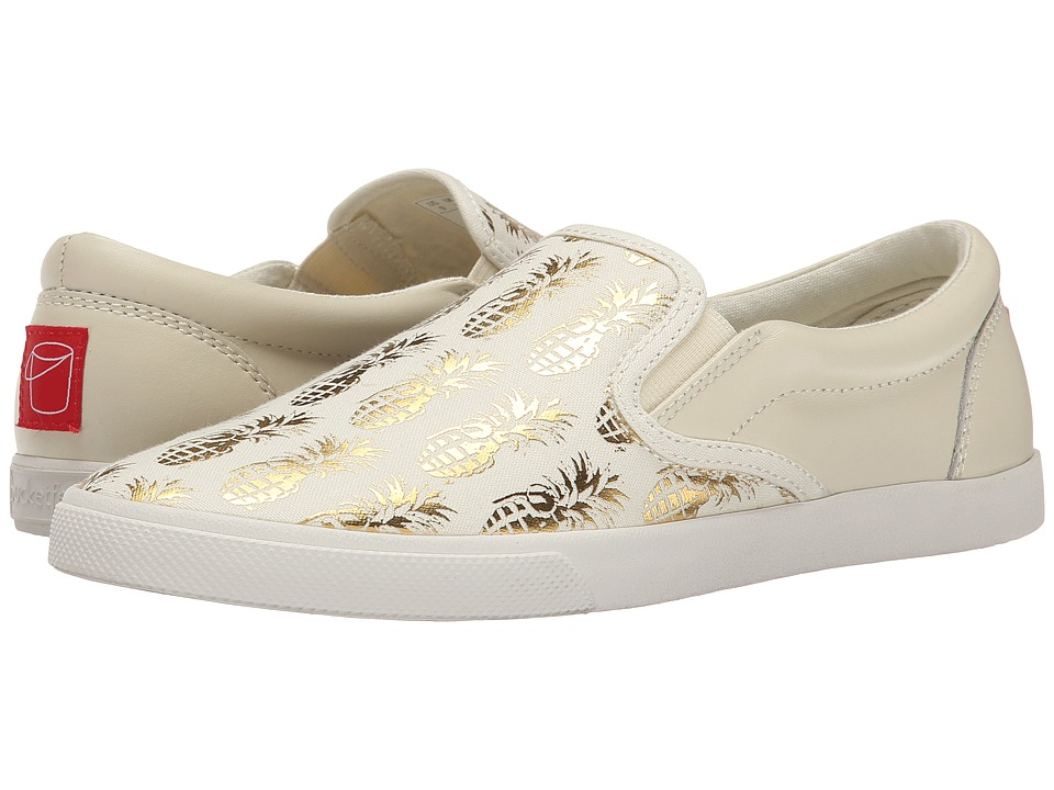 BucketFeet - Pineappleade (Beige/Gold) Women's Shoes