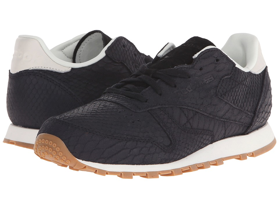 Reebok Lifestyle - Classic Leather Clean Exotics (Black/Chalk) Women's Classic Shoes