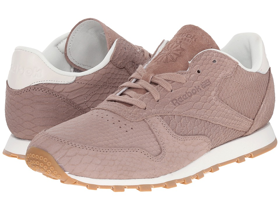 Reebok Lifestyle - Classic Leather Clean Exotics (Taupe/Chalk) Women's Classic Shoes