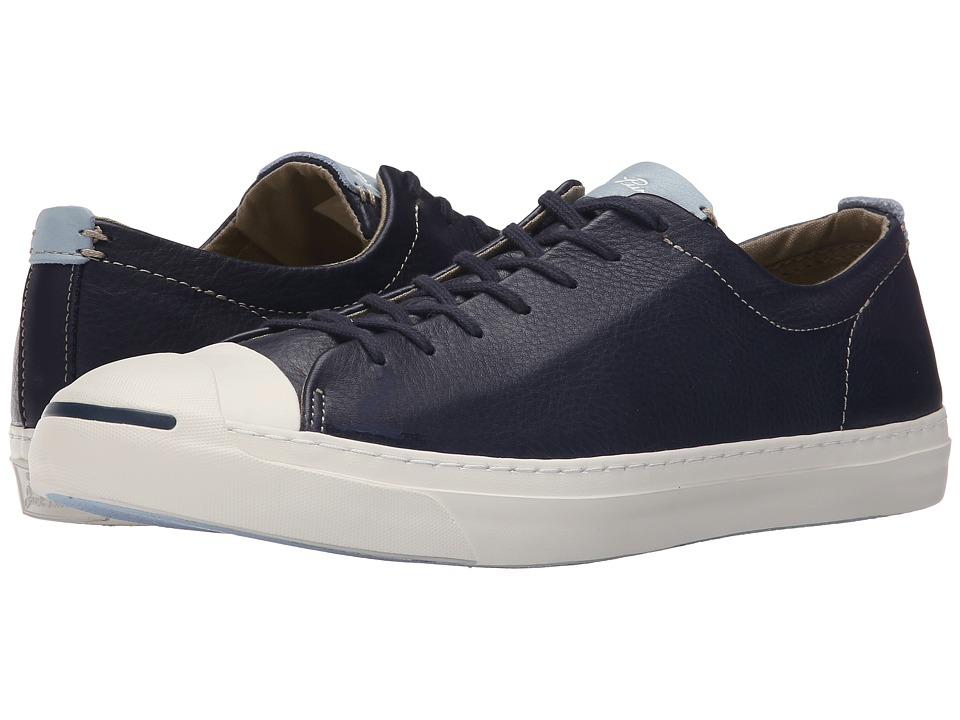 Converse - Jack Purcell Jack - Tumbled Leather (Inked/Egret/Ambient Blue) Men's Lace up casual Shoes