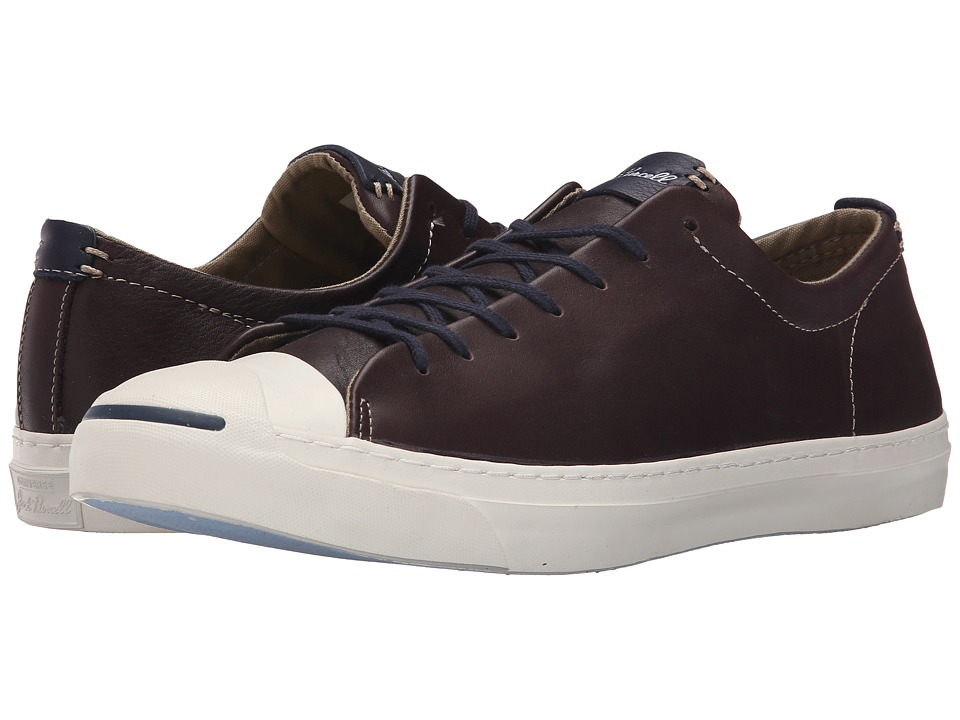 Converse - Jack Purcell Jack - Tumbled Leather (Burnt Umber/Egret/Inked) Men's Lace up casual Shoes