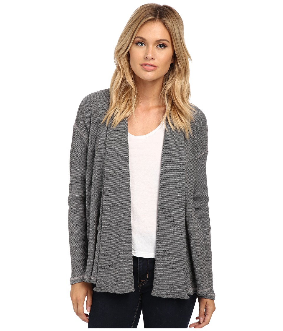Three Dots - Thermal Open Cardigan (Greystone) Women's Sweater