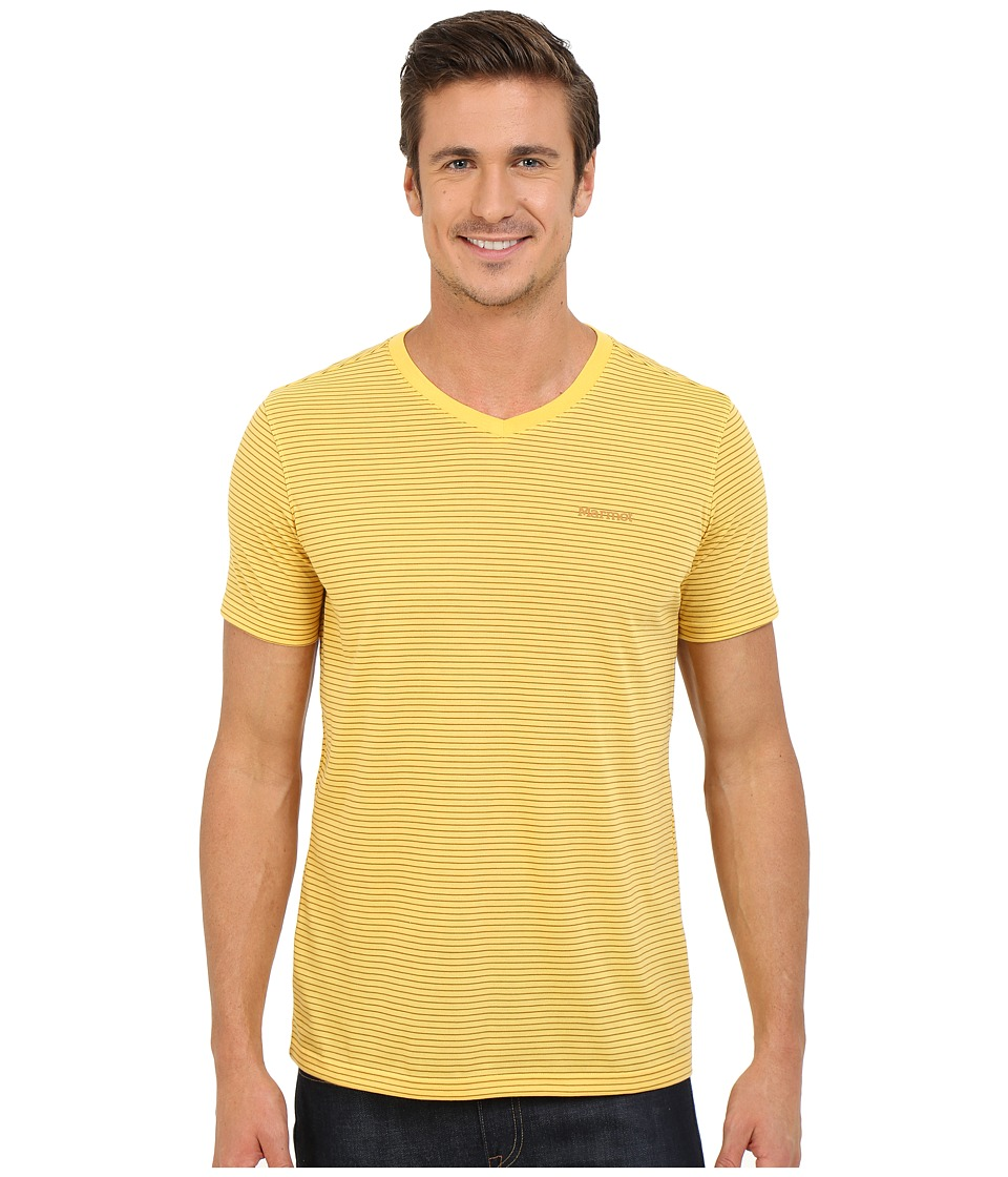 Marmot - Salt Point V-Neck Short Sleeve Tee (Yellow Light) Men's T Shirt