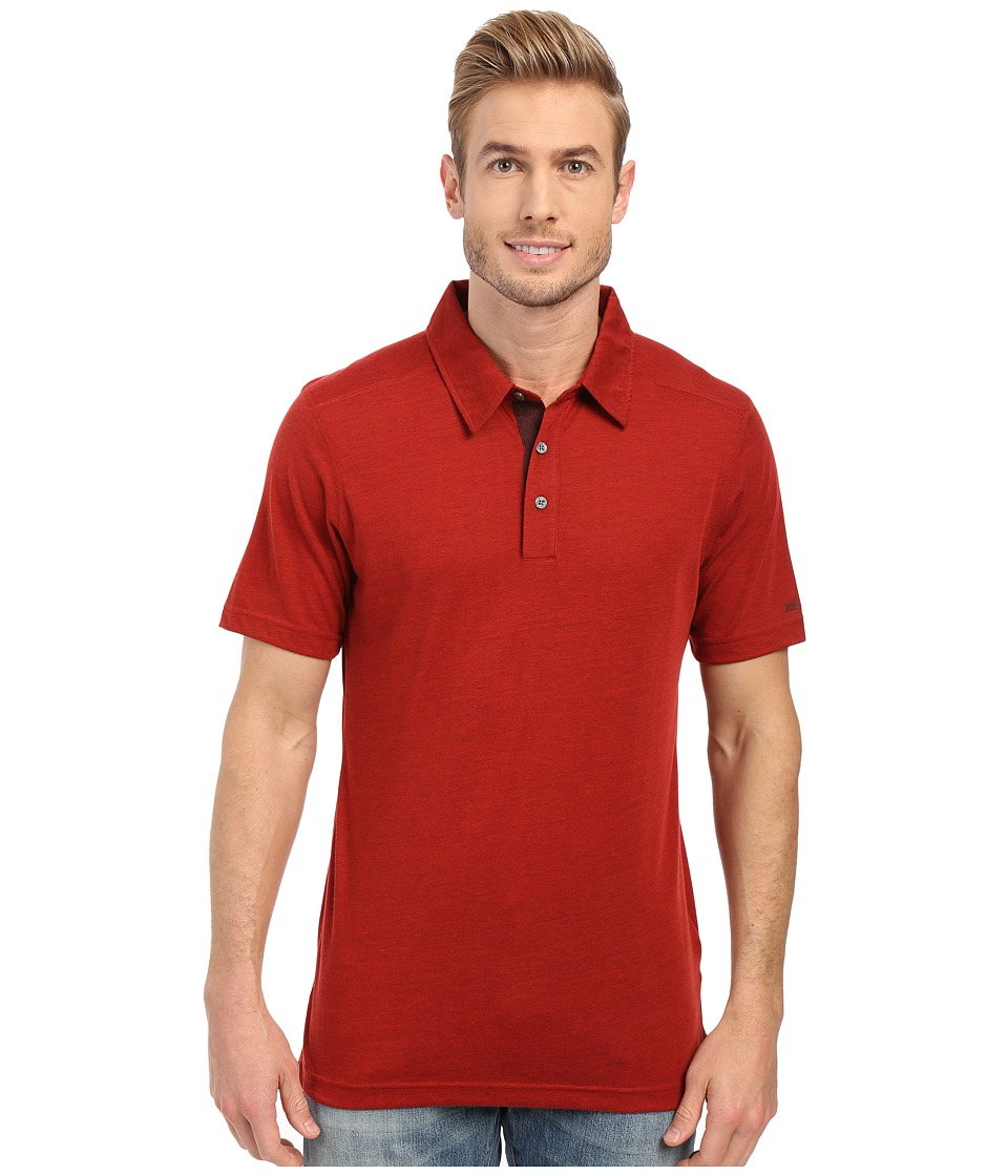 Marmot - Wallace Polo (True Redstone) Men's Short Sleeve Pullover
