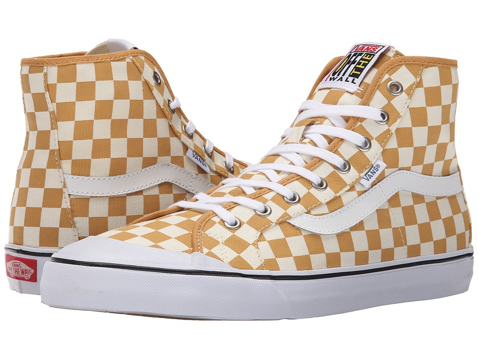 vans sk8 hi checkerboard spruce yellow