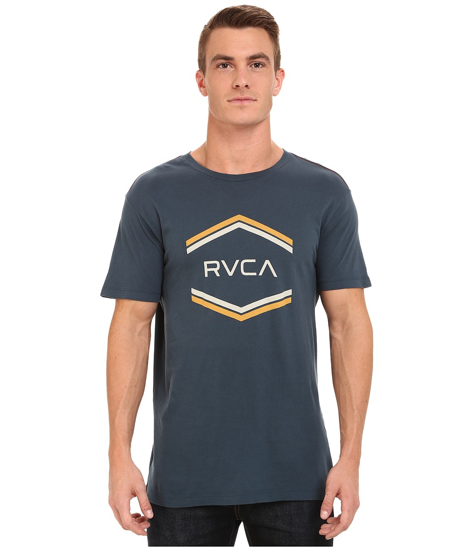 RVCA - Double Hex Vintage Tee (Midnight) Men's T Shirt