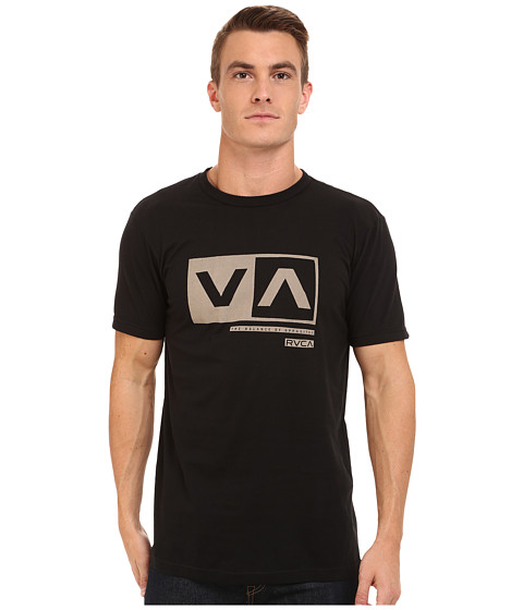 RVCA - Cut Out Box Tee (Black) Men's T Shirt