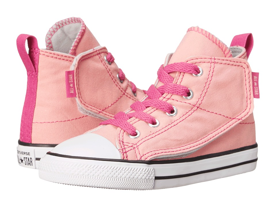 Converse Kids - Chuck Taylor All Star Simple Step Hi (Infant/Toddler) (Daybreak Pink/Plastic Pink/Mouse) Girls Shoes
