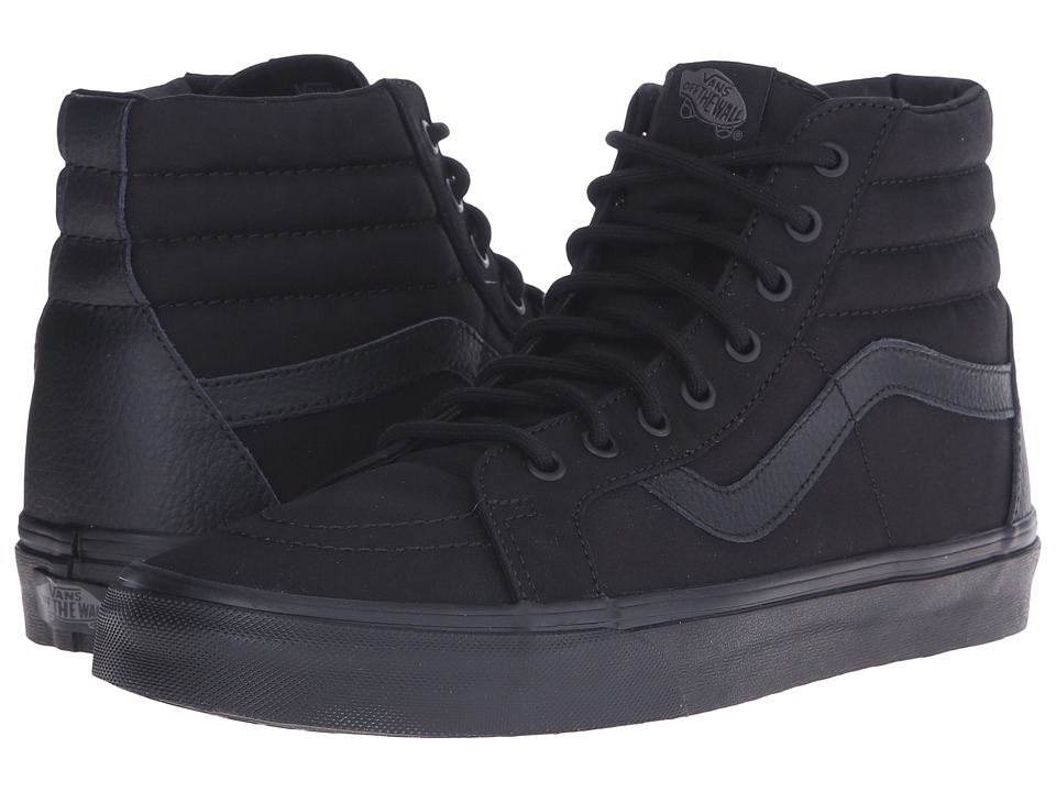 Vans - SK8-Hi Reissue ((Mono T&L) Black) Skate Shoes