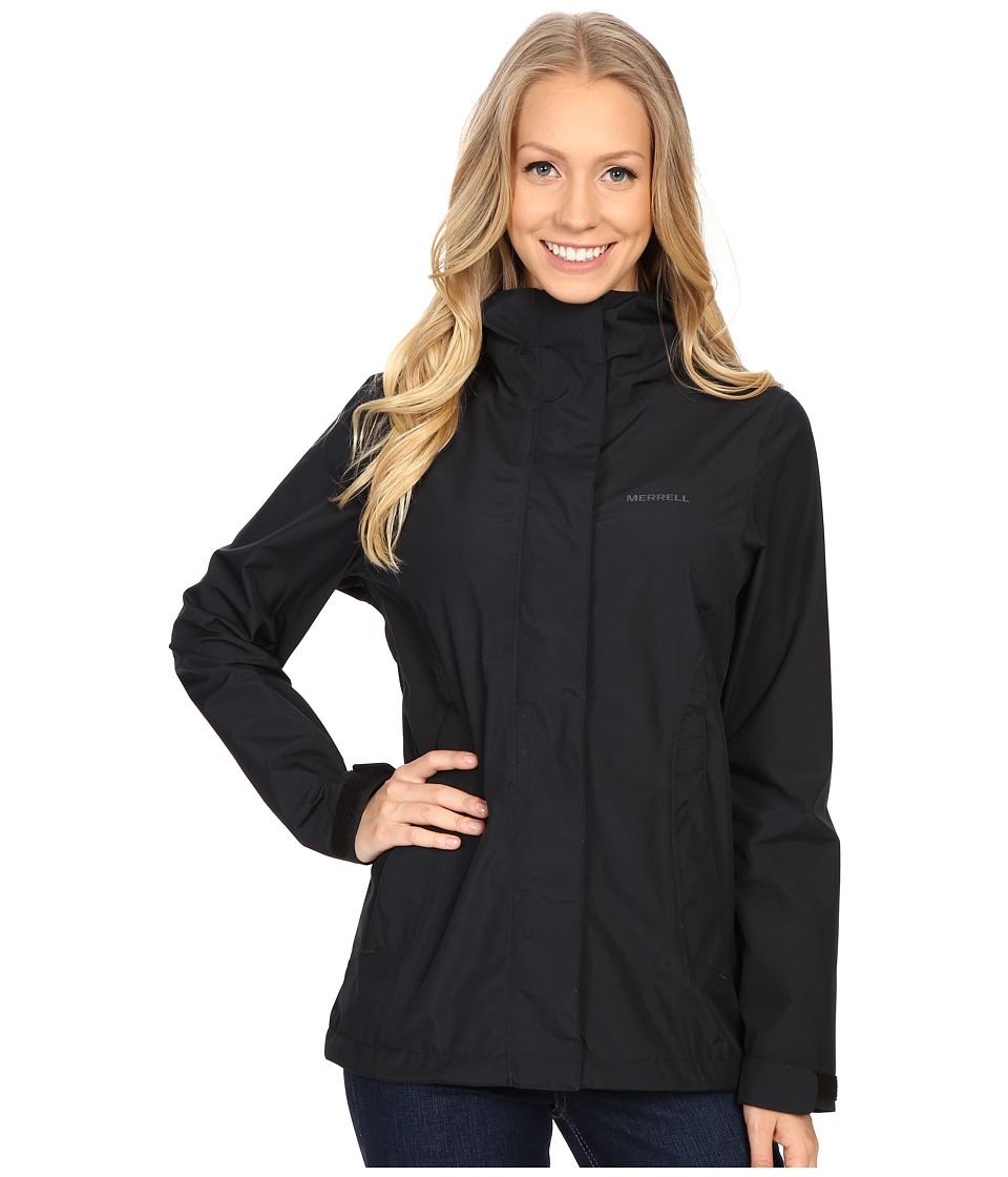 Merrell - TrailMist Rain Jacket (Black) Women's Coat