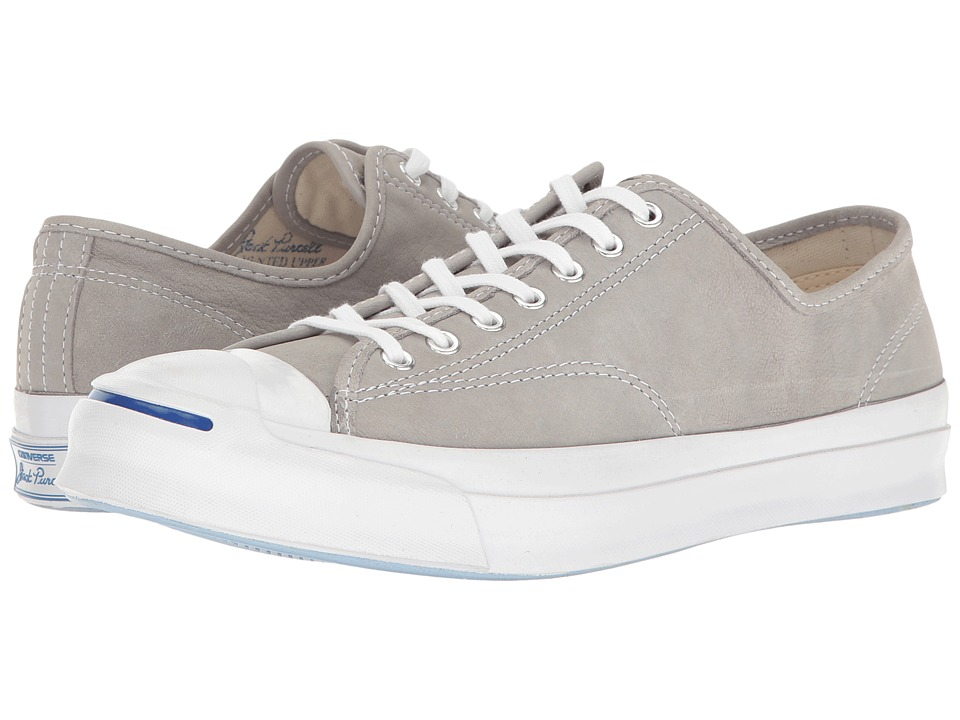 Converse - Jack Purcell Signature Buck Leather Ox (Dolphin/Dolphin/White) Men's Lace up casual Shoes