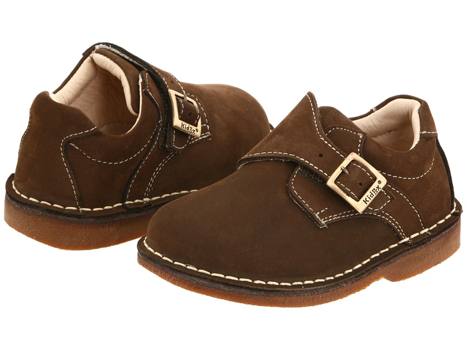 Kid Express - Marcus (Toddler/Little Kid/Big Kid) (Dark Brown Nubuck) Boys Shoes