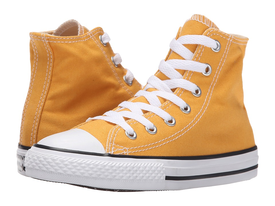 Converse Kids - Chuck Taylor All Star Hi (Little Kid) (Solar Orange) Kids Shoes