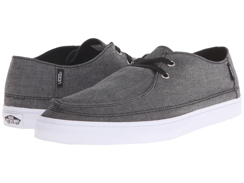 Vans - Rata Vulc SF ((Chambray) Black/True White) Men's Shoes